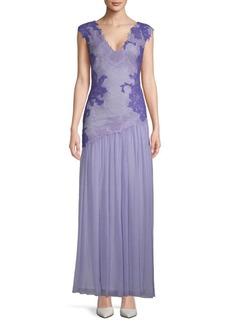 Tadashi Lace Chiffon Gown