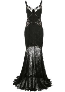 Tadashi lace-embroidered maxi dress