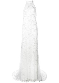 Tadashi lace gown with train