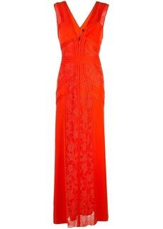 Tadashi lace inserts evening dress