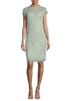 Tadashi Lace Overlay Dress