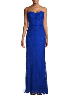 Tadashi Lace Strapless Gown