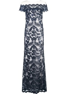 Tadashi lace structures gown