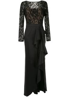 Tadashi lace top taffeta gown