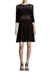 Tadashi Lace Yoke Dress