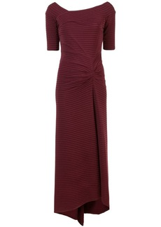 Tadashi long ribbed evening dress