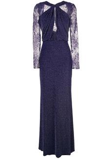 Tadashi lurex knit evening dress
