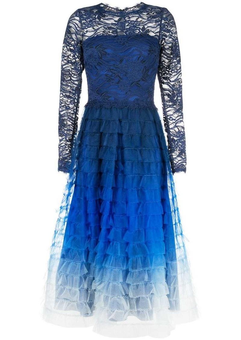 Tadashi ombré flared dress