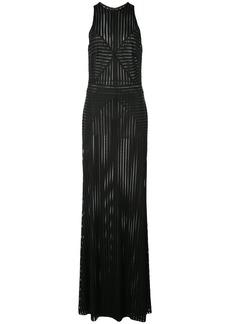 Tadashi panelled striped gown