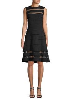 Tadashi Pleated Sleeveless Dress