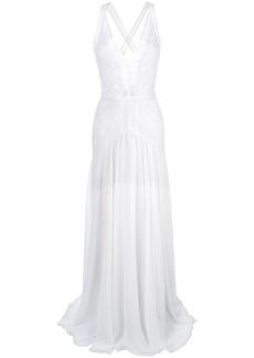 Tadashi plunge lace evening dress