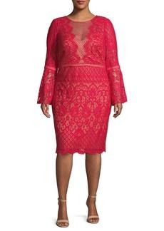 Tadashi Plus Lace Sheath Dress
