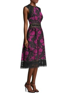 Tadashi Printed Tea Knee-Length Dress