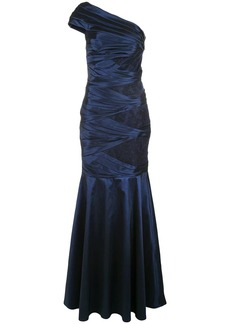 Tadashi satin ruched gown