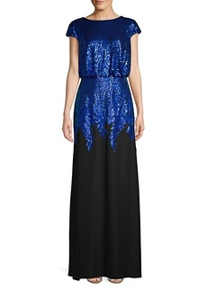 Tadashi Sequin Crepe Gown