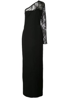 Tadashi sequinned one-shoulder gown