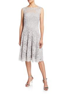 Tadashi Sleeveless Lace Illusion Dress