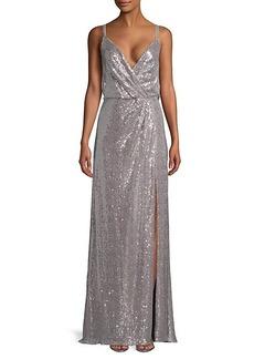 Tadashi Sleeveless Sequined Gown