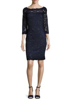 Tadashi Shoji 3/4-Sleeve Lace Cocktail Dress