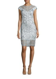 Tadashi Shoji Cap Sleeve Lace Dress