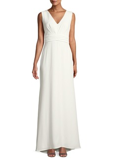 Tadashi Chandler Bow-Back Crepe Gown