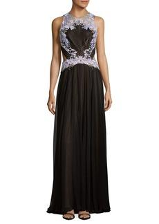 Tadashi Chiffon Lace Gown