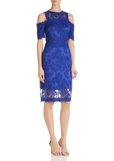 Tadashi Shoji Cold-Shoulder Lace Dress