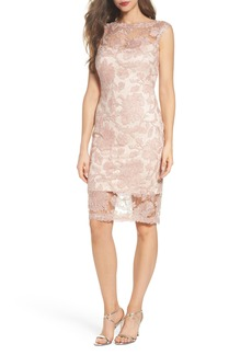 Tadashi Shoji Corded Lace Sheath Dress (Regular & Petite)