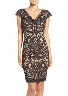 Tadashi Shoji Corded Lace Tulle Sheath Dress (Regular & Petite)
