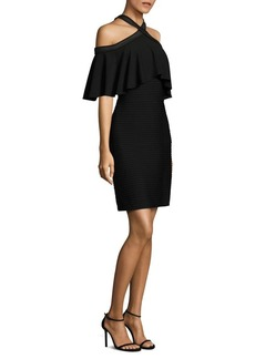 Tadashi Shoji Crisscross Cold-Shoulder Dress