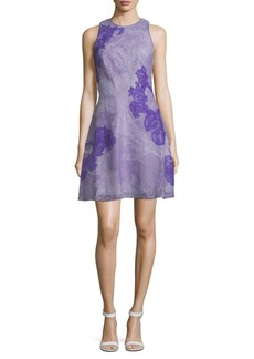 Tadashi Crisscross Lace A-Line Dress
