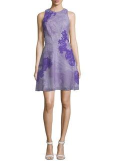 Tadashi Shoji Crisscross Lace A-Line Dress