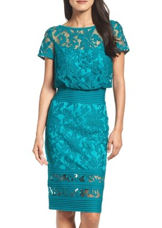 Tadashi Shoji Embroidered Blouson Sheath Dress (Regular & Petite)