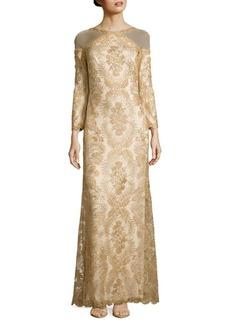 Tadashi Shoji Embroidered Column Gown