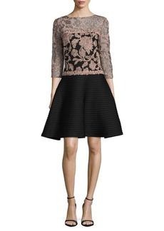 Tadashi Shoji Embroidered Dress