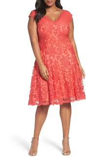 Tadashi Shoji Embroidered Fit & Flare Dress (Plus Size)