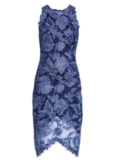 Tadashi Shoji Embroidered Floral Sheath Dress