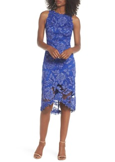 Tadashi Shoji Embroidered Floral Sheath Dress