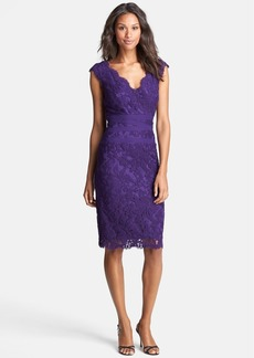 Tadashi Shoji Embroidered Lace Sheath Dress (Regular & Petite)