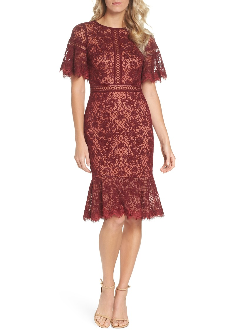 3b27422949fc Tadashi Tadashi Shoji Embroidered Mesh Dress | Dresses