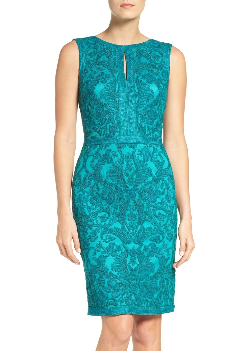 Tadashi Tadashi Shoji Embroidered Sheath Dress Dresses