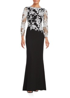 Tadashi Shoji Fit & Flare Lace Gown