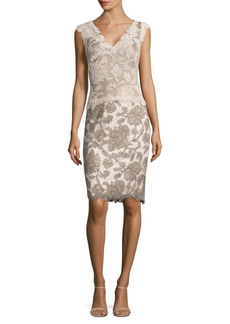 9de9324895d On Sale today! Tadashi Tadashi Shoji Floral-Lace Sheath Dress