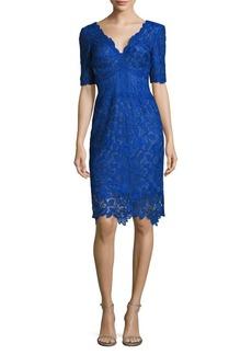 Tadashi Shoji Floral Lace Sheath Dress