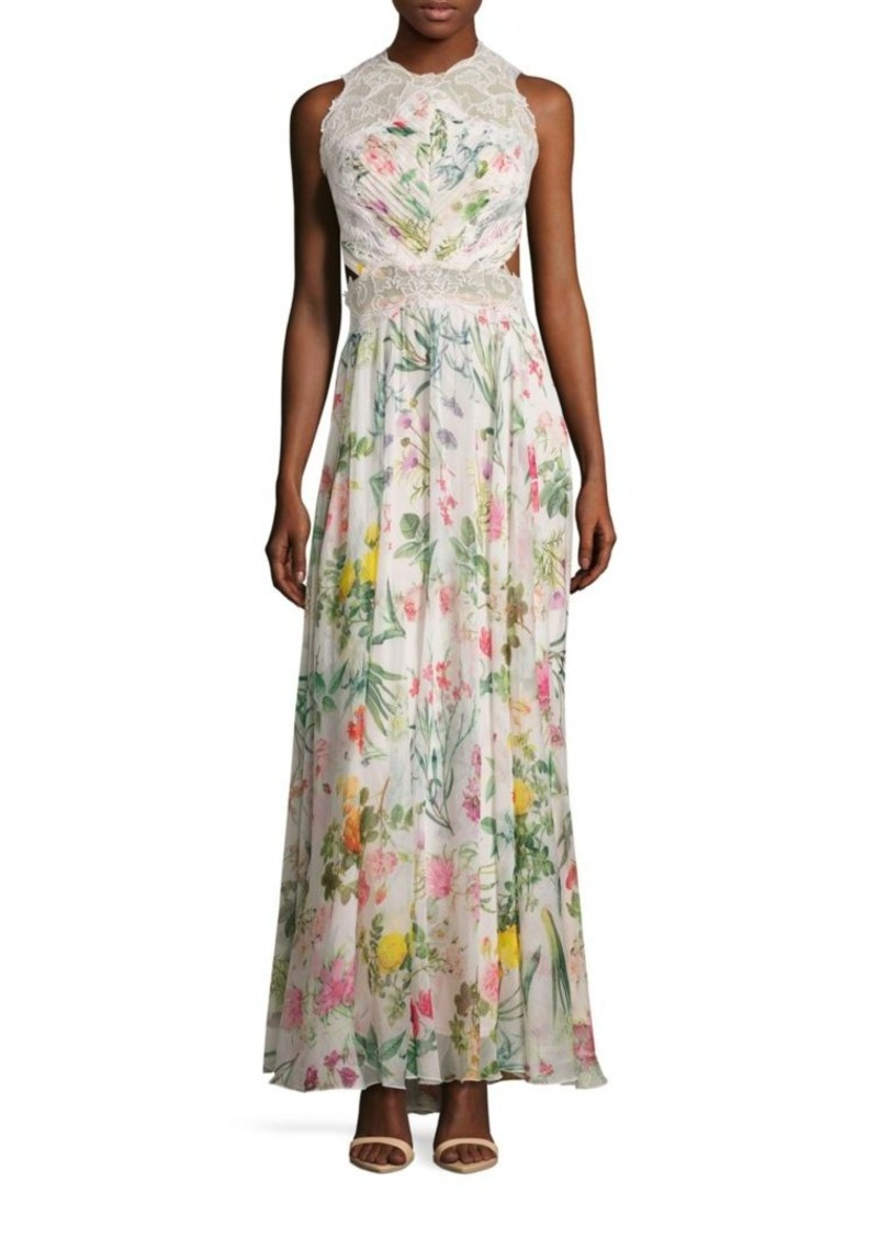 b707393cd394 Tadashi Tadashi Shoji Floral Printed Open Back Gown