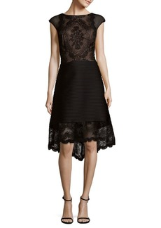 Tadashi Hi-Lo Embroidered Dress
