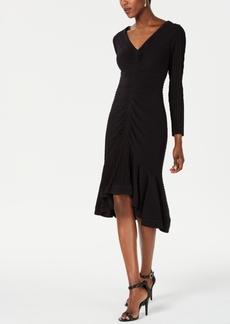 Tadashi Shoji High-Low Flounce Dress