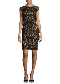 Tadashi Illusion Lace Sheath Dress