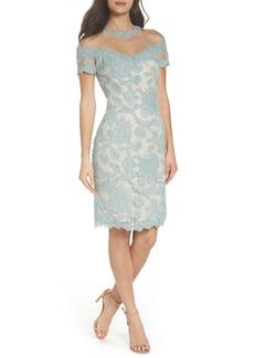 Tadashi Shoji Illusion Lace Sheath Dress