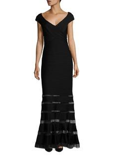 Tadashi Shoji Illusion Paneled Gown